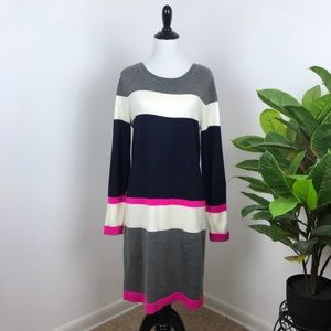 Vince Camuto striped sweater dress